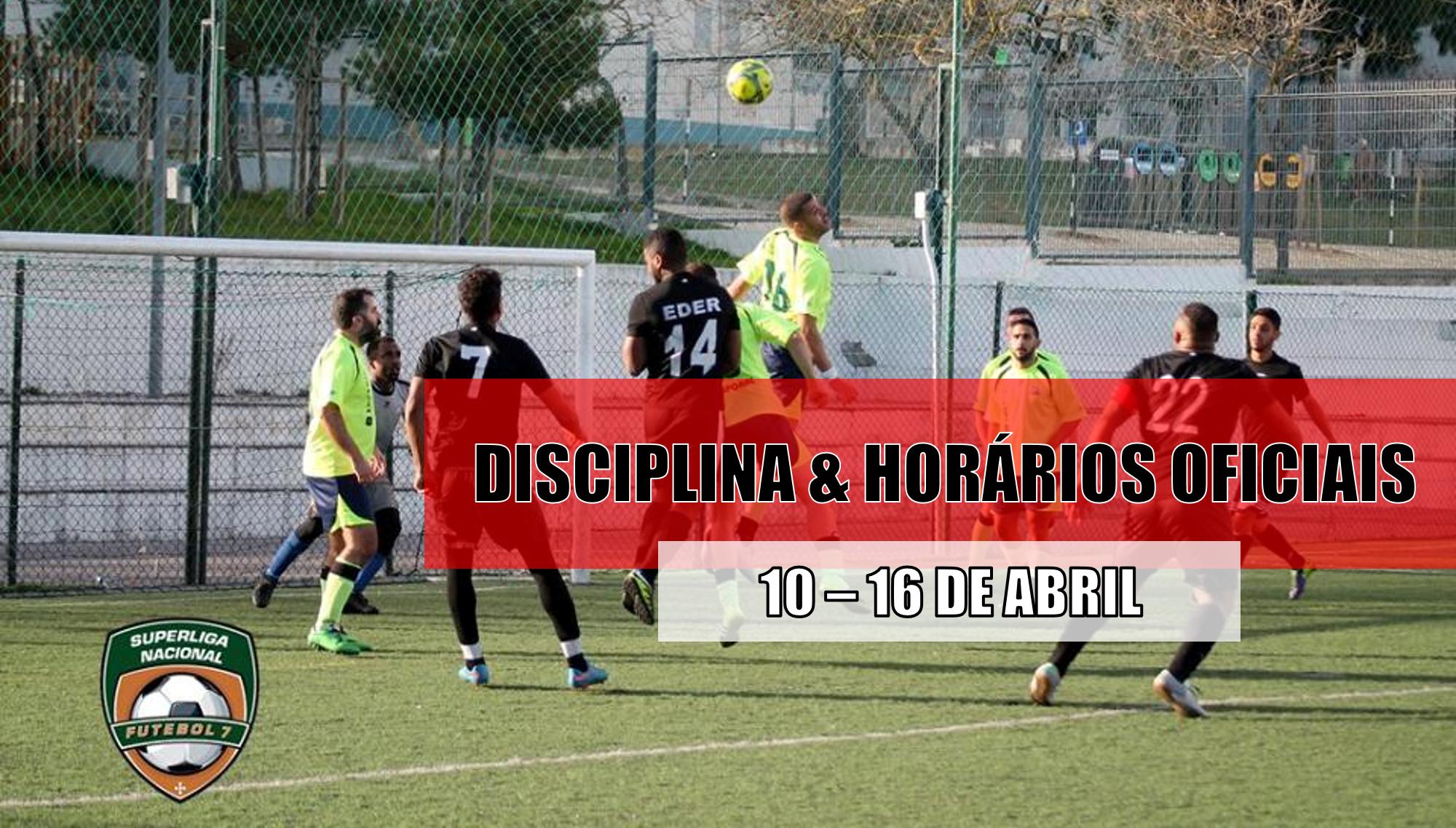 DISCIPLINA   HORÁRIOS OFICIAIS – 13 DE ABRIL  90cb90c9e357e