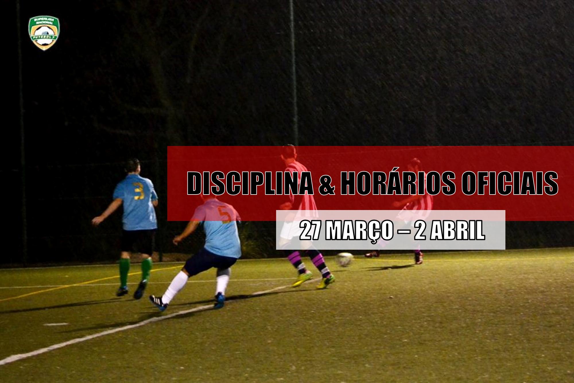 DISCIPLINA   HORÁRIOS OFICIAIS – 30 MARÇO  84baf09cb4690