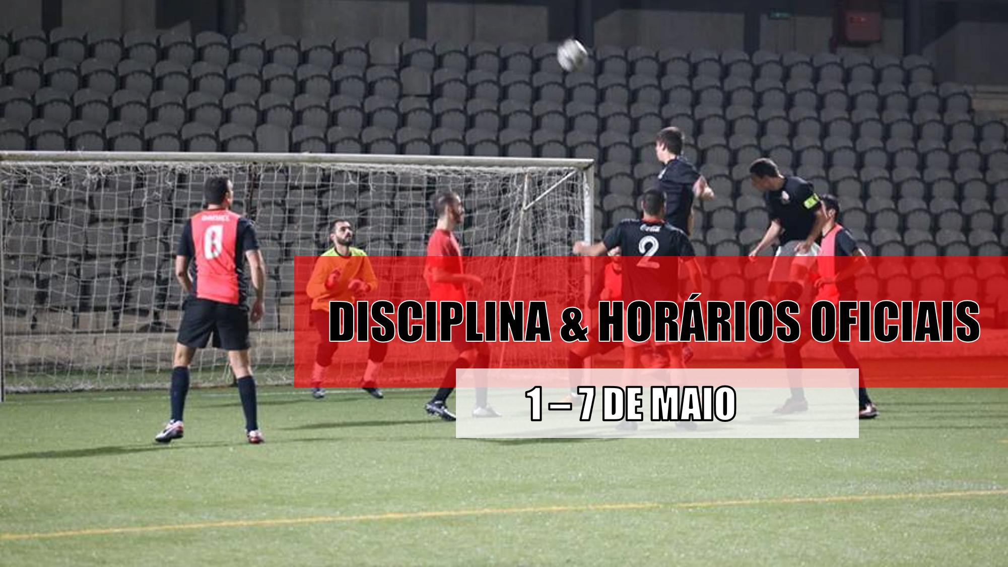 DISCIPLINA   HORÁRIOS OFICIAIS – 4 DE MAIO  4d05fdc95770a