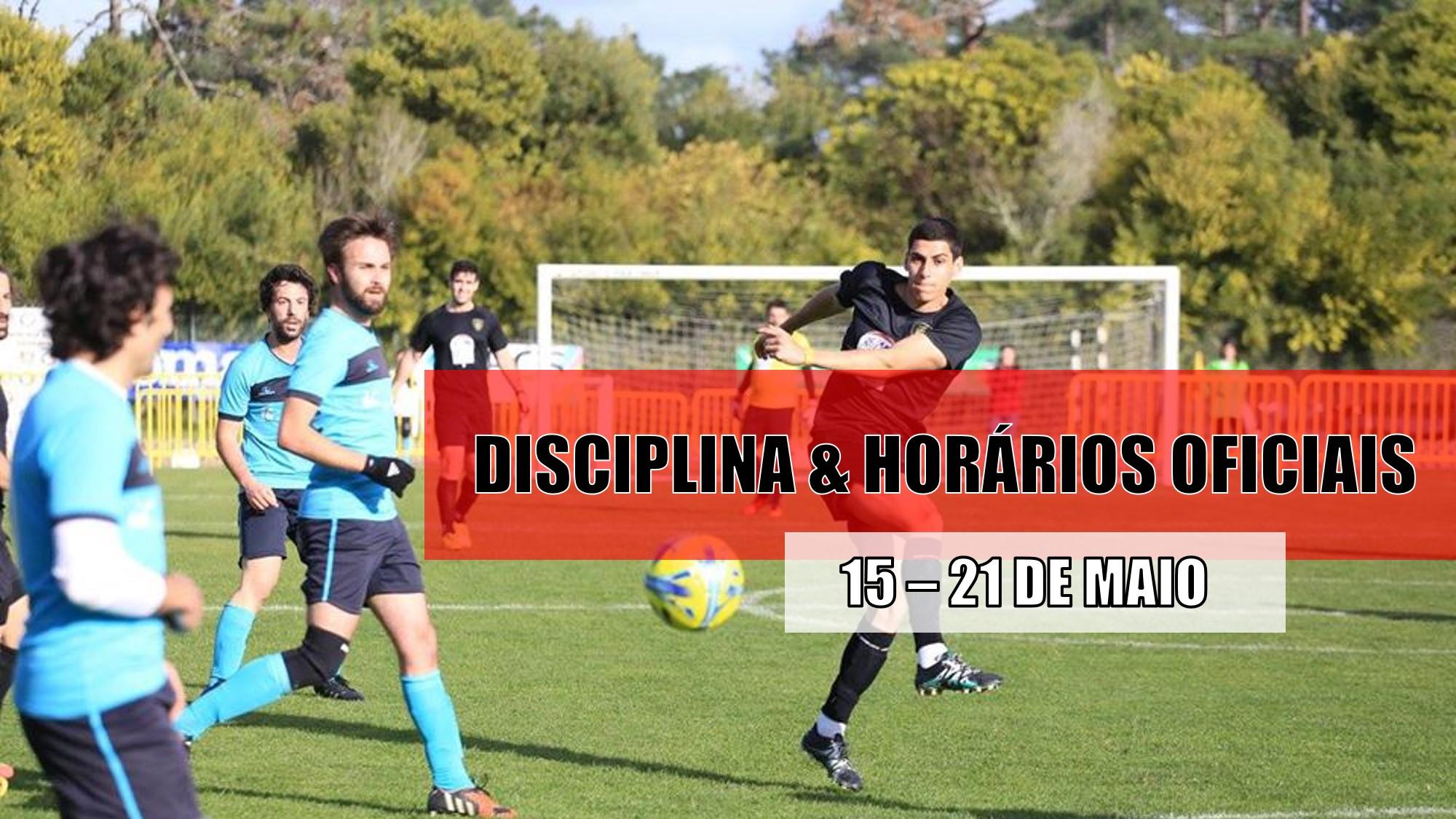 DISCIPLINA   HORÁRIOS OFICIAIS – 18 DE MAIO  ee45892f29db1